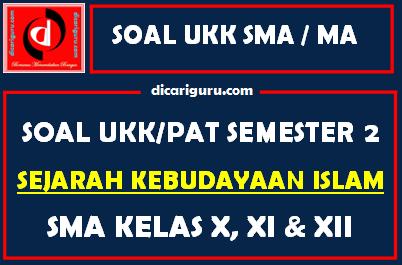 Soal UKK / PAT SKI MA Kelas 10, 11, 12 Semester 2