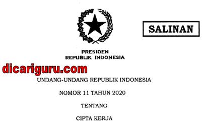 UU Cipta Kerja / Omnibus Law Nomor 11 Tahun 2020