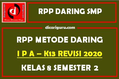 Contoh RPP IPA Daring SMP Kelas 8 Semester 2