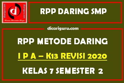 Contoh RPP IPA Daring SMP Kelas 7 Semester 2