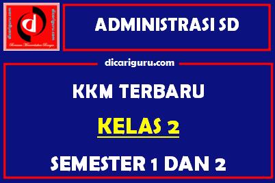 KKM Kelas 2 Semester 1 dan 2