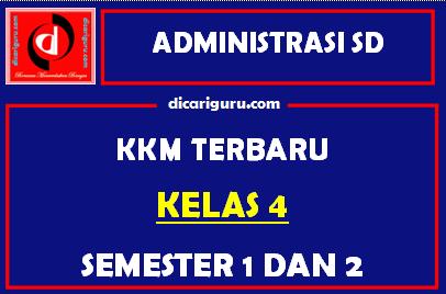 KKM Kelas 4 Semester 1 dan 2