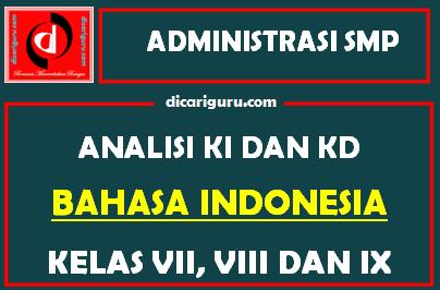 Analisis KI dan KD Bahasa Indonesia SMP