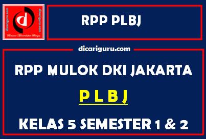 RPP PLBJ Kelas 5