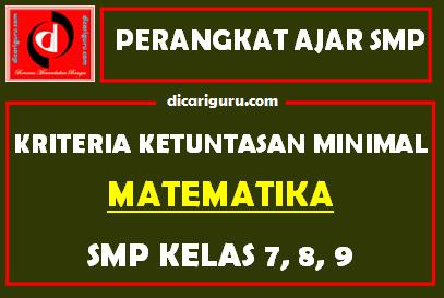 KKM Matematika SMP