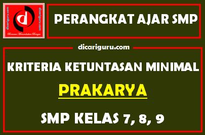 KKM Prakarya SMP